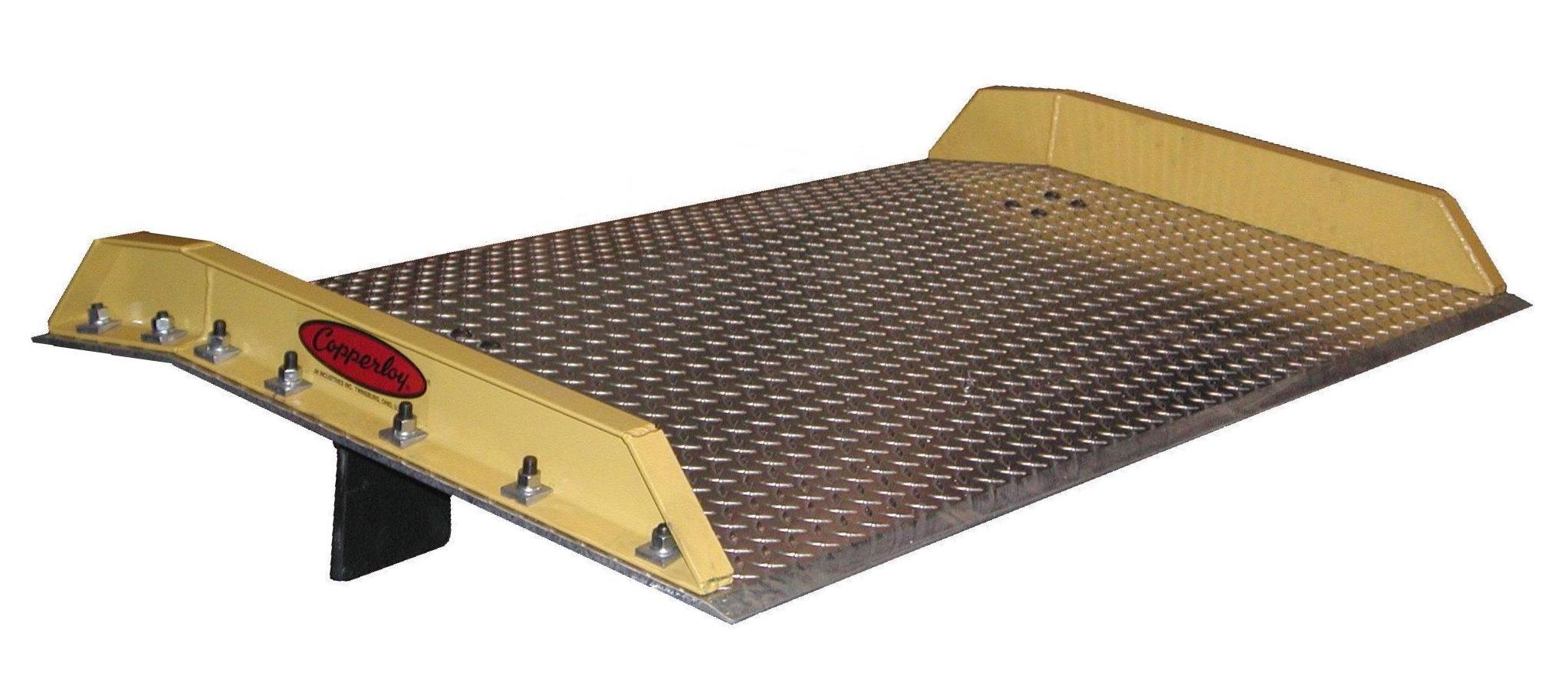 Aluminum Dockboard-Steel Curbs