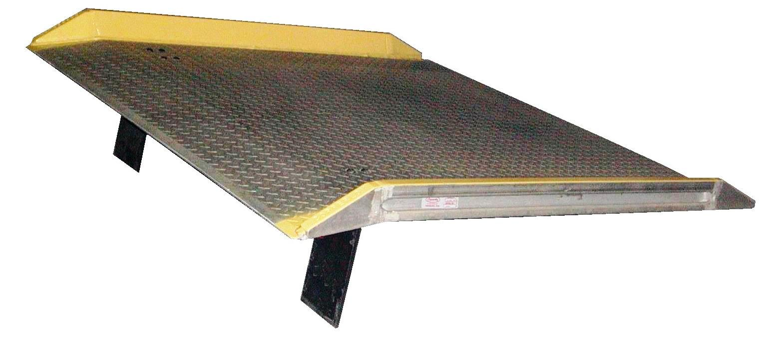 Aluminum Dockboard for bridging the gap between loading dock and truck