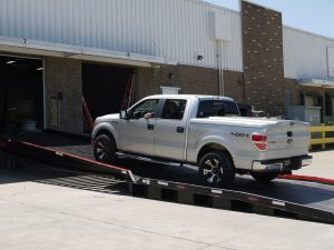 A key requirement was for a truck to be able to drive up the ramp into the loading facility. YARD RAMP Site was able to achieve just that.