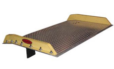 Aluminum Dock Boards with bolt-on steel curbs